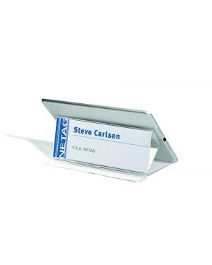 Portanome da tavolo con porta tablet 21x83x13,8cm durable 8029-19 4005546808543 8029-19_77101 by Durable