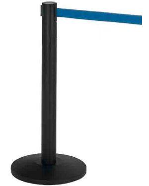 1 colonnina segnapercorso nera con nastro 200cm blu alfa 103340  103340_77137