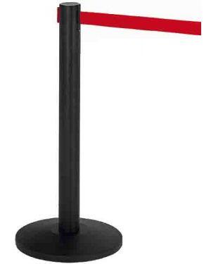 1 colonnina segnapercorso nera con nastro 200cm rosso alfa 103341  103341_77138