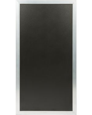 Lavagna multiboard nera 60x115cm cornice argento securit SBM-SS-115 8717624242922 SBM-SS-115_77158