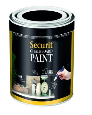 Pittura lavagna nero 250ml (5mq) securit PNT-BL-SM 8719075281062 PNT-BL-SM_77382 by Securit