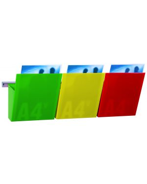 Kit vision kanban l75cm con 3 tasche a4 colorate 1002127 77507 A 1002127_77507 by Studio T