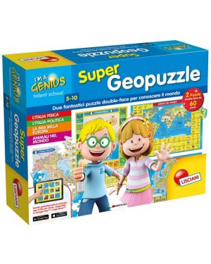 I'm a genius Super Geopuzzle Lisciani cod. 53742_77824 53742_77824
