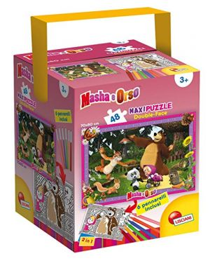 Puzzle in a tub maxi 48 masha all friends lisciani 53902_77865 by Lisciani