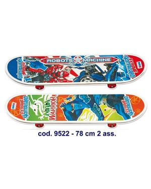 Skateboard legno dim. 78x20 cm colori assortiti ronchi supertoys 9522_77934