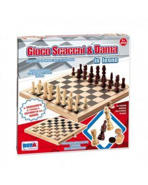 Gioco scacchi dama in legno ronchi supertoys 9656_77941