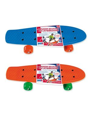 Junior shark skateboard 42x12x8 cm. Colori assortiti ronchi supertoys 9806_77965
