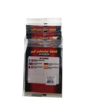 Etichetta adesiva bianca 58x27mm (10fogli x 10etichette) markin CONFEZIONE DA 10 X11043_78216