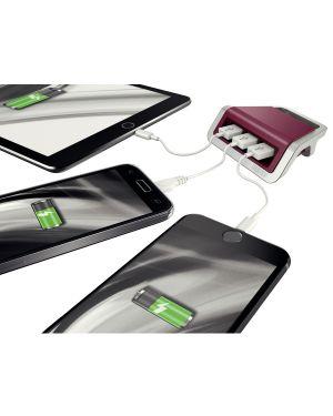 Caricatore a 3 porte USB Leitz Style Rosso granato ES_62070028