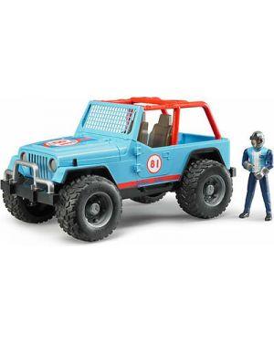 Jeep cross country race blu con pilota bruder 02541_78245
