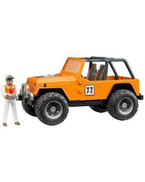 Jeep cross country race arancione con pilota bruder 02542_78246