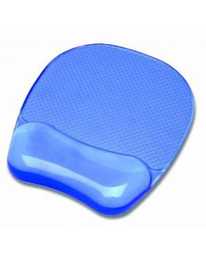 Mouse pad con poggiapolsi in gel trasparente blu 91141 77511911415 91141