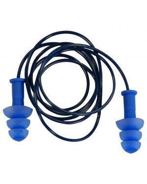 Sacchetto 10 paia di tappi rilevabili blu con cordino CONICFIRDE010BL 3295249177751 CONICFIRDE010BL