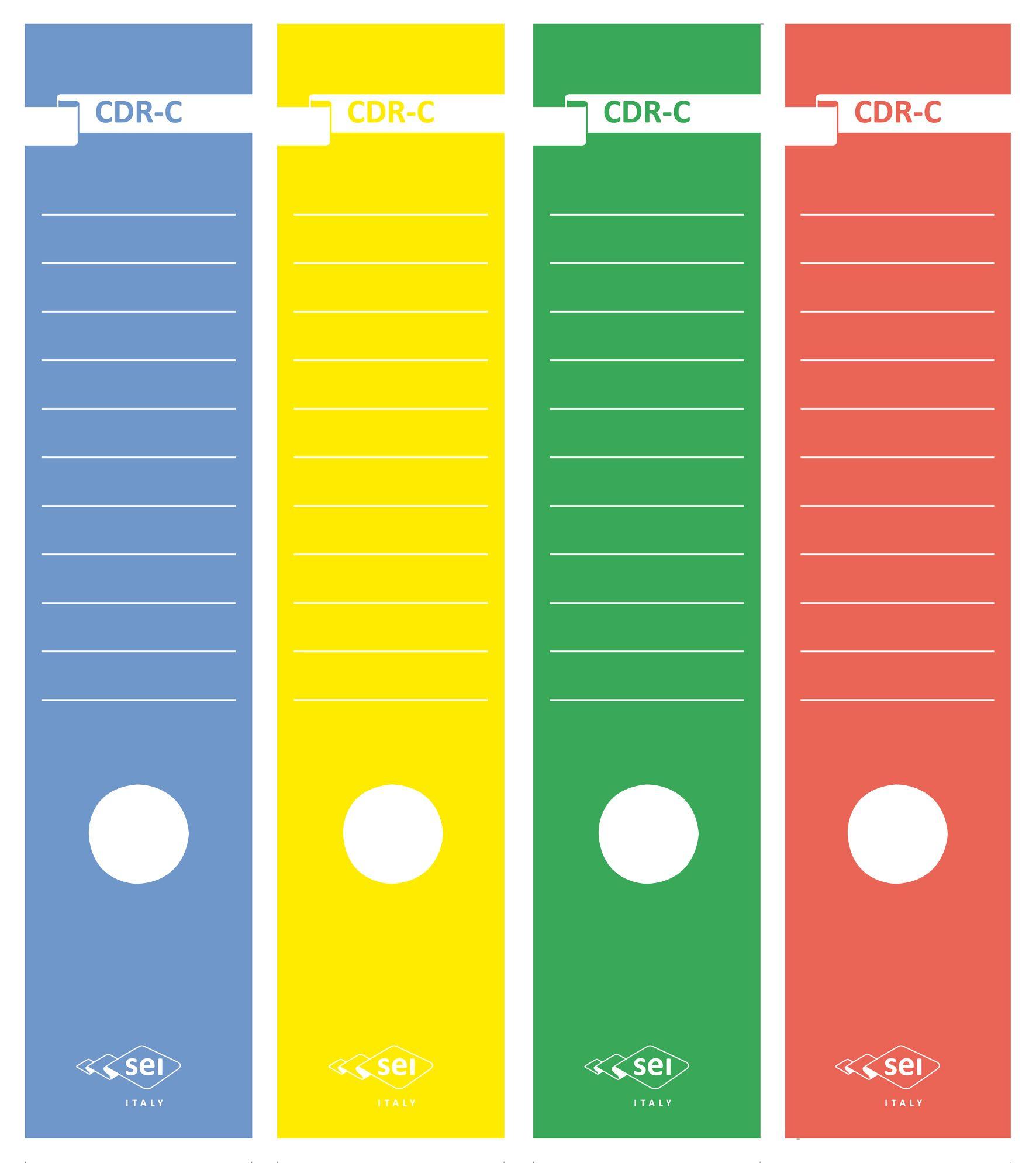 Etichette x registratore pz.10 giallo SEI ROTA 58012706 8004972008929
