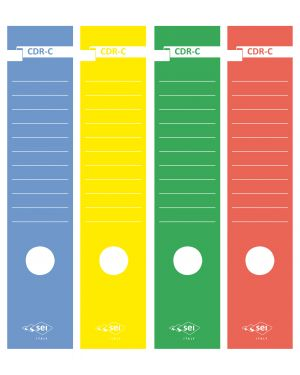 Etichette x registratore pz.10 rosso SEI ROTA 58012712 8004972008943 58012712 by Sei Rota