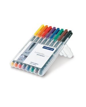 Busta 8 pennarelli lumocolor permanent 318 f 0.6mm 318WP8