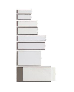 8 portaetichette adesive ies b2 24x88mm sei 320322