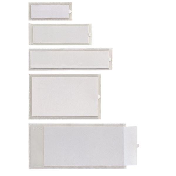 10 portaetichette adesive iesti b4 65x100mm trasparente sei