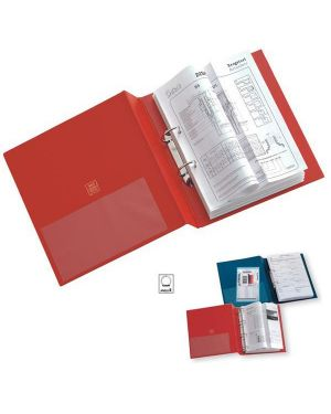 Raccoglitore stelvio 25 a5 2r rosso 15x21cm sei rota 35255212 by SEI ROTA
