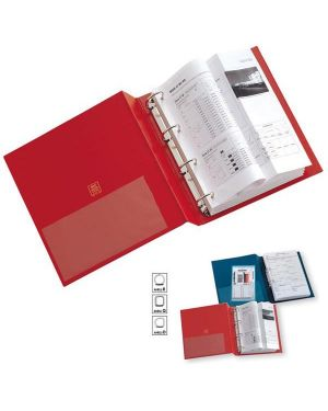 Raccoglitore stelvio 40 a4 4d rosso 22x30cm sei rota 36404512