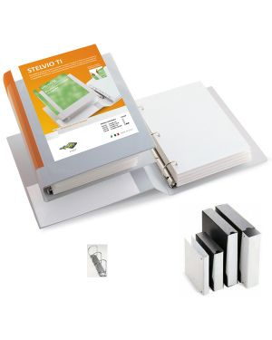 Raccoglitore stelvio ti 30 a5 3d 15x21cm bianco personalizzabile sei rota 36305401
