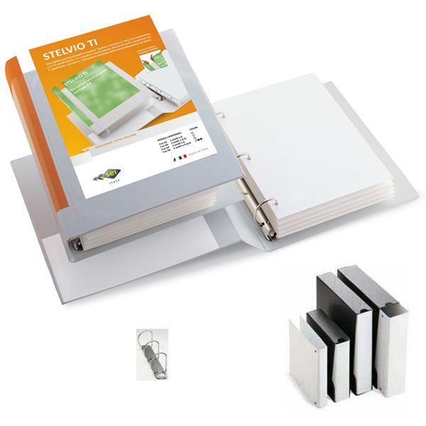 Raccoglitore stelvio ti 30 a5 3d 15x21cm bianco personalizzabile sei rota 36305401 by Sei Rota
