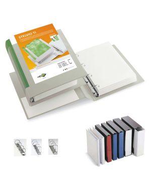 Raccoglitore stelvio ti 40 a4 4d 22x30cm bianco personalizzabile sei rota 36404601