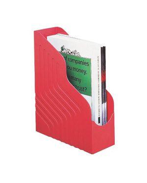 Portariviste magazine rack jumbo 25x32cm dorso 10cm rosso rexel 49111 5018009100923 49111