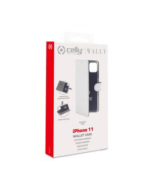 Wally case iphone 11 white Celly WALLY1001WH 8021735752523 WALLY1001WH