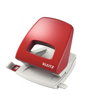 Perforatore 2 fori metal rim 5005 max 25fg rosso leitz 50050325 4002432354498 50050325 by Leitz