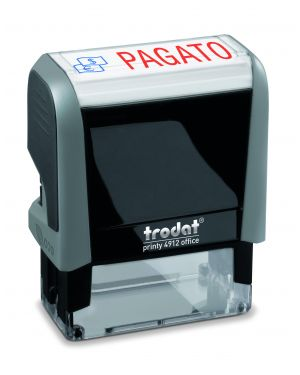 "Timbro printy office eco 47x18mm ""pagato"" trodat 43265. 9008056432654 43265."