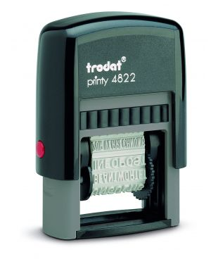Timbro printy eco 4822 polinome 12 diciture 4mm autoinchiostrante trodat 74051. 9008056740513 74051. by Trodat