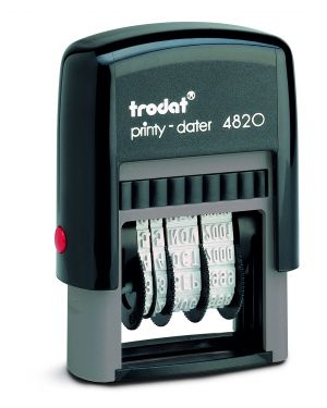 Timbro printy eco 4820 4mm datario autoinchiostrante trodat 74008. 9008056740087 74008. by Trodat