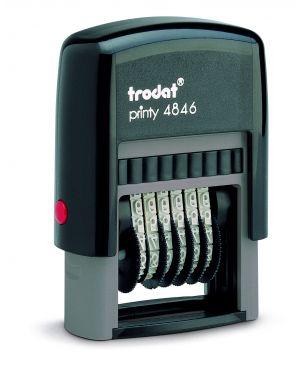 Timbro printy eco 4846 numeratore 6cifre 4mm autoinchiostrante trodat 73997. 9008056893769 73997.