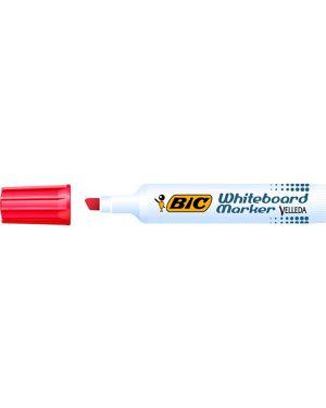 Pennarello velleda 1791 punta scalpello whiteboard rosso bic 943198 47362 A 943198 by Bic
