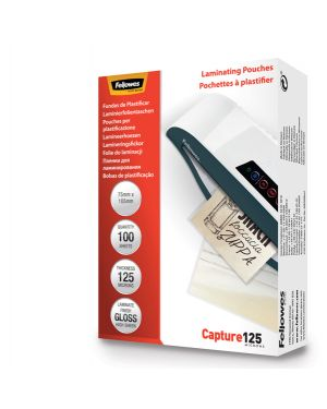 Scatola 100 pouches capture125 125mic a3 fellowes 5307506 77511530753 5307506