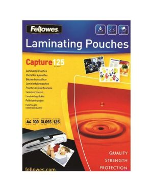 Scatola 100 pouches capture125 125mic a3 fellowes 5307506 77511530753 5307506 by Fellowes