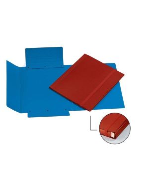 Cartellina 3 lembi c - elastico fibrone 27x37cm rosso cart.garda CG0075FEXXXAC02 56637 A CG0075FEXXXAC02