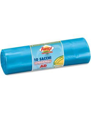 10 sacchi immondizia 70x110cm 120lt hd 16µ azzurro logex C5LX-2006B 8003350531400 C5LX-2006B