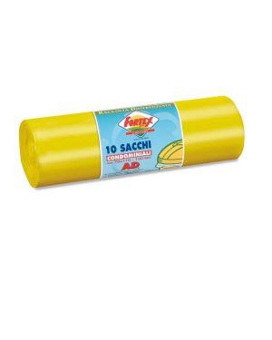 10 sacchi immondizia 70x110cm 120lt hd 16µ giallo logex C5LX-2006Y 8003350531417 C5LX-2006Y