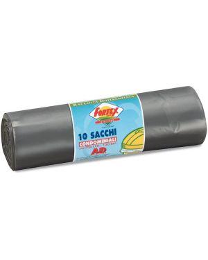 10 sacchi immondizia 70x110cm 120lt hd 16µ grigio logex C5LX-2006S 8003350531424 C5LX-2006S