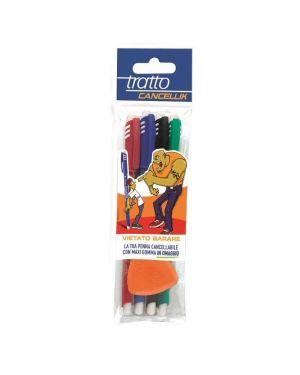 Blister 4 penna sfera cancellabile cancellik 1,0mm col.assortiti tratto 42300 8000825041006 42300 by Tratto