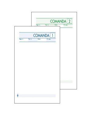 Blocco comande 25fogli 2 copie autocopiante 10x17cm art 511 - 2 bm 100070 8008234000706 100070