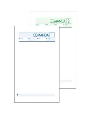 Blocco comande 25fogli 2 copie autocopiante 10x17cm art 511/2 bm CONFEZIONE DA 10 100070