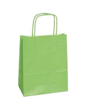 25 shoppers carta kraft 45x15x50cm twisted verde mela 47534 8029307047534 47534 by Cartabianca