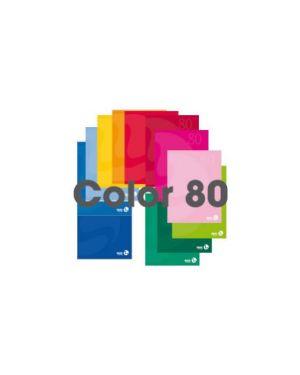 MAXIQUADERNO A4 80gr 80fg+1 5mm c/margine copertina 250gr COLOR 80 BM CONFEZIONE DA 12 110591