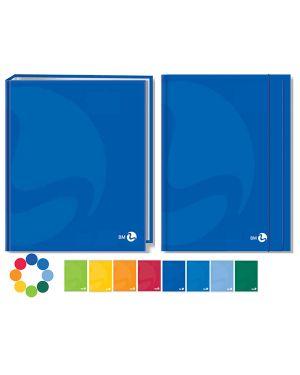 Cartella 3 lembi c - elastico 255x350mm color colori assortiti bm 108968 8008234089688 108968