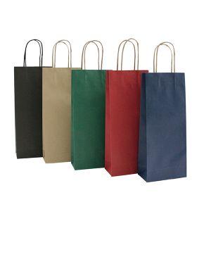 20 shoppers carta biokraft 14x9x38cm portabottiglie verde 72239 8029307072239 72239 by Cartabianca