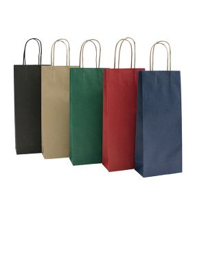 20 shoppers carta biokraft 14x9x38cm portabottiglie nero 72253 8029307072253 72253 by Cartabianca