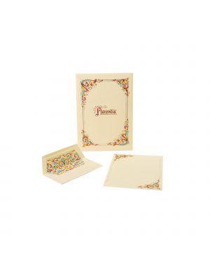 Taschetta 10 fogli lettera 210x297mm con busta linea florentia kartos OD01120100 8009162112011 OD01120100
